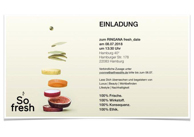 Date fresh einladung zum ONLINE FRESH